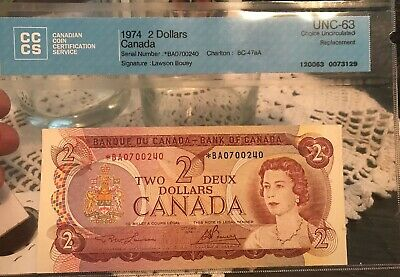 1974 Canadian Two Dollar Replacement UNC-63