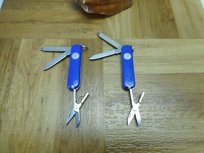 Lot of 2 Victorinox Classic SD Swiss Army Knives 58mm SAK Dept of the Air Force