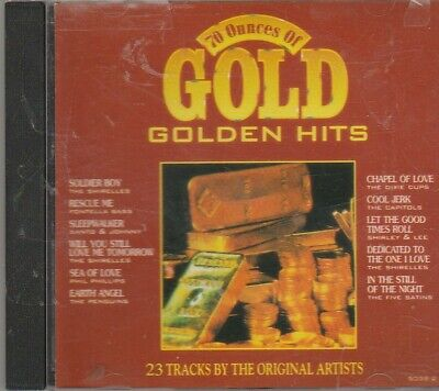 70 Ounces Gold Golden Hits CD Great SHIRELLES PHIL PHILLIPS PENGUINS SHIRLEY LEE