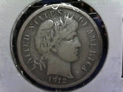 1912-S Barber Dime Silver US COIN