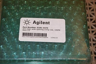 Agilent Clear Wide Opening Crimp Vial #5181-3375 Qty: 2 Box of 100 Each New