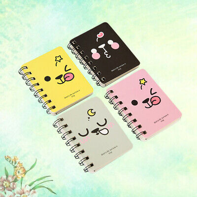4pcs Notebook Cartoon Portable Mini Pocket Diary Book Notepad for Travel Journal