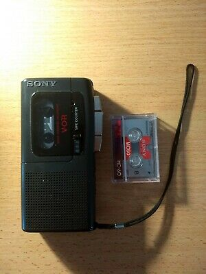 Sony V-O-R Microcassette-Corder Tape Recorder M-607V With Tape