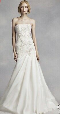 d984328c551d New Vera Wang Ivory Embroidered Lace Mermaid Wedding Dress Gown Size 6 NWT