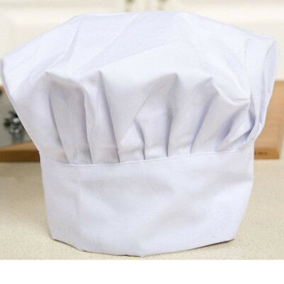 Kid White Chef Hat Elastic For Party Kitchen Baking Cooking Costume Cap Gifts