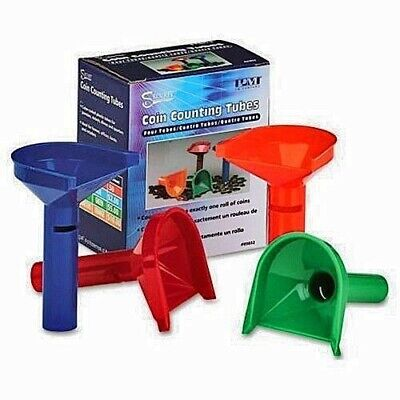 Fast Easy Coin Counting Change Tubes Funnels Best Price Free US Shipping