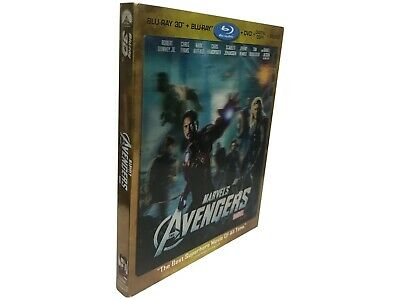 The Avengers (2012) 3D + Blu-ray + DVD + Digital (NO CODE) with slipcover