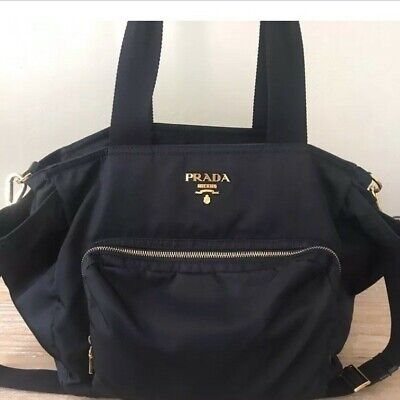 Prada Nappy Bag Navy - Beautiful Piece to have as a travel or baby bag.