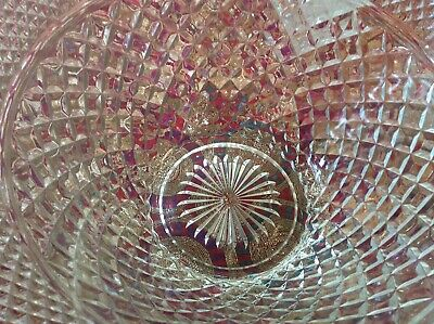 Large Glass Punch Bowl And 15 Cups Punchbowl