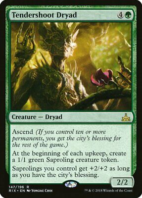 FOIL Tendershoot Dryad Rivals of Ixalan NM/M