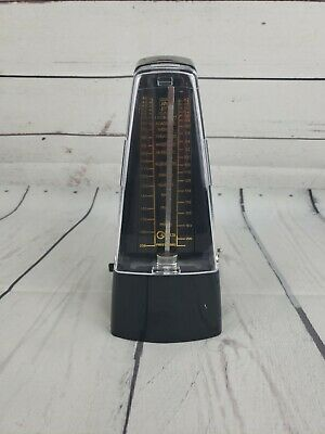 Black Vintage Mechanical Metronome Wind Up Style for Piano Violin Guitar------E3
