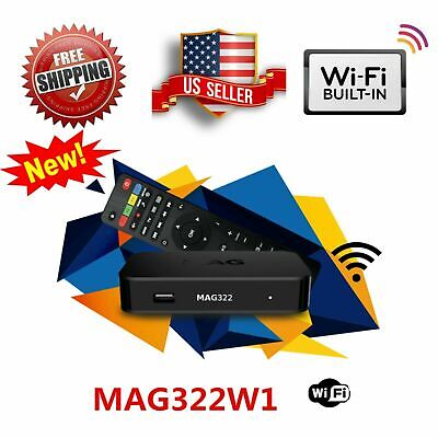 NEW 2019 MAG322W1 IPTV SET-TOP BOX INFOMIR build-in wifi update for