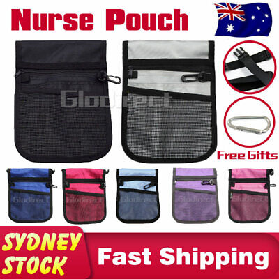 Nurse Pouch Vet Physio Medical Waist Pocket Agecare Bag Free Keyring Belt Strap