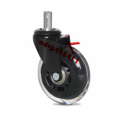 """3"""" Office Chair Caster Wheels Replacement,Set of 5 Heavy Duty Safe for Hard"""