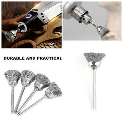 10pc Stainless Steel Wire Brush Fit Dremel Rotary Die Grinder Removal Wheel Tool