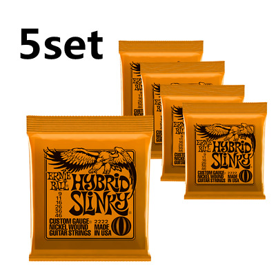5set Ernie Ball 2222  Hybrid Slinky 009-046 Electric Guitar Strings