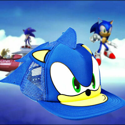 a4f131137 NEW SONIC THE Hedgehog Hat Anime Baseball Hip-Hop Unisex Cap Cosplay ...