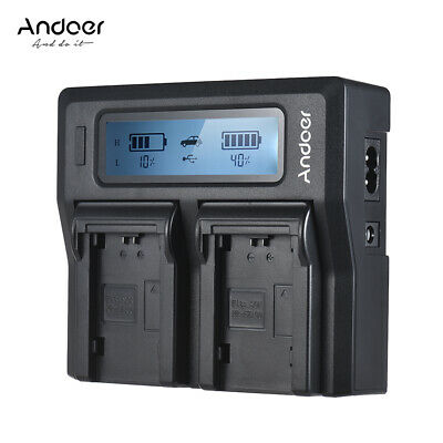 Andoer NP-FZ100 Dual Channel LCD Camera Battery Charger for Sony A7III A9 V5Y9