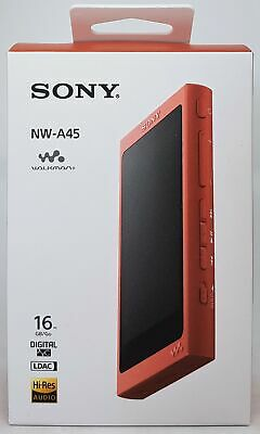 Sony NW-A45 High Resolution Walkman MP3 Reproductor 16GB Rojo - Nuevo y Emb.