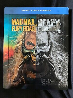 Mad Max Fury Road - Black And Chrome Edition - Blu Ray Steelbook Mint Condition
