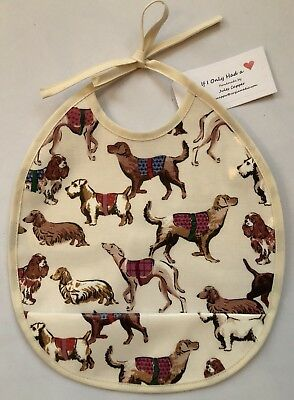 e08d8cad723e Cath Kidston Sketchbook Dogs Oilcloth Wipe Clean Food Catcher Baby/toddler  Bib