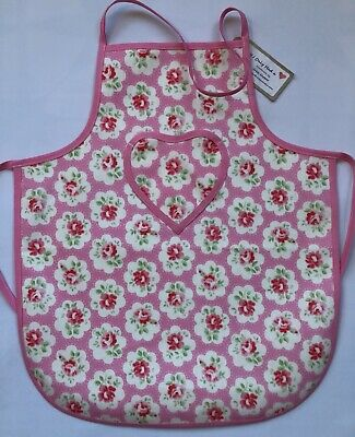 7ed019e6558c Cath Kidston Wipe Clean Children's Apron Age 2-5 yrs Pink Provence Rose  Oilcloth