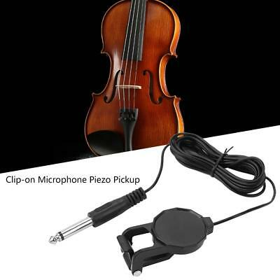 6.35mm Piezo Clip On Microphone Pickup Ukulele Violin Mandolin Acoustic Guitar