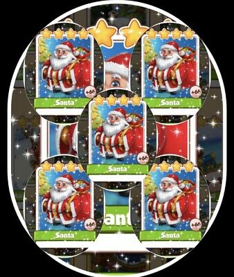 Coin Master Cards Pack Of 5 Santas Fast Delivery