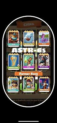 Coin Master Pack Of 5 Cards Of Your Choice From Photo Attached. Fast Delivery