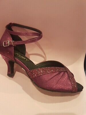 Ladies Latin/ballroom/salsa Shoe Uk 4.5 purple