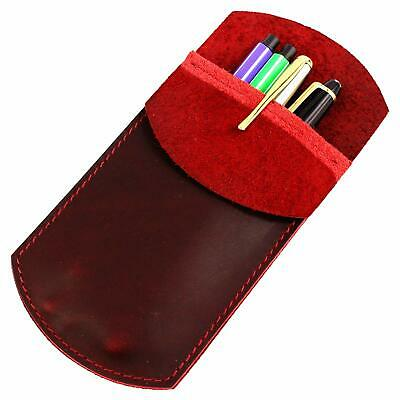 LXFF Durable Leather Pocket Protector Fountain Pen Sleeve Case Holder Cover