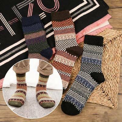 5 Pairs Men Women Unisex Warm Winter Thick Cashmere Wool Blend Soft Socks Hot
