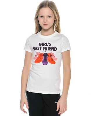 Nike Girl's Best Friend T-Shirt ~ 684588 100 ~ Youth Size Large ~ Age 12-13