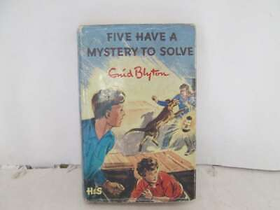 Five Have A Mystery To Solve Enid Blyton 1st Edition with Dust Jacket