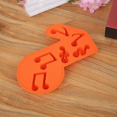 Silicone 6 With Music Symbol Cake Chocolate Mold Random Color QK