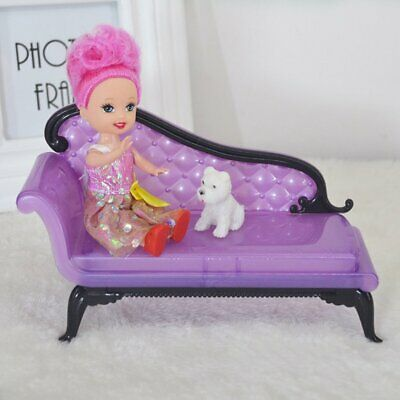 Kids Baby Girl Princess Dreamhouse Sofa Chair Furniture Toys For Doll Barbie QK