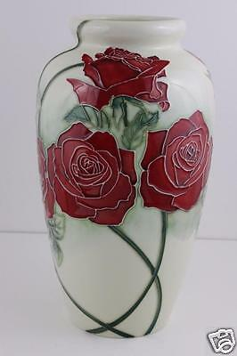 Old Tupton Ware Large Roses Pattern Vase 29cm High With Original Box SIGNED
