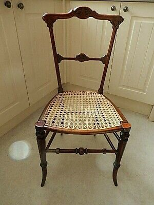 Chair Antique Regency C1740 caned bedroom side hall