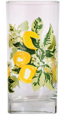 Lots Of Lemon Printed Glass Coolers, 16 oz. New Free Shipping