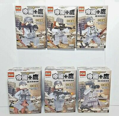 World War II Minifigures German Soldier Set of 6 figures - building toys