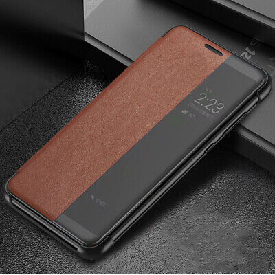 For Huawei P30 Pro P20 Mate 10 20 Smart Luxury Leather Mirror Flip Case Cover