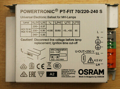 Osram Powertronic PT-FIT 70/220-240S Universal Ballast for MH-Lamps - New