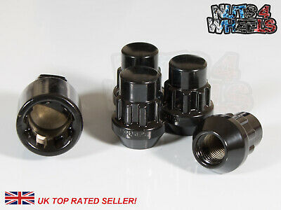 4 x Black Locking Wheel Nuts M12x1.5 Fits Ariel Atom Lotus Elise
