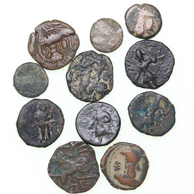 Ancient India Kushan Empire and others lot of 11 AE coins