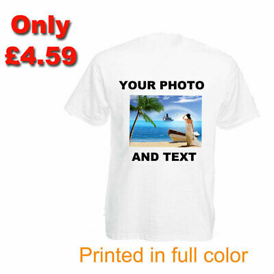 Personalised Photo T shirt Printed Custom Text Women Ladies Stag Do Hen Party