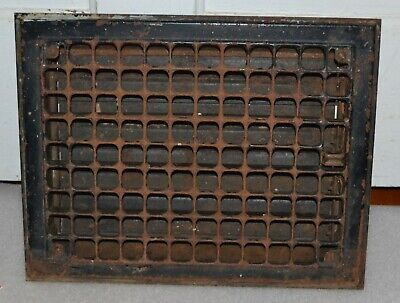 Antique Vintage Metal Heat Register Wall Grate 14 x 11