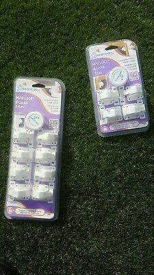 Dreambaby Adhesive Magnetic Lock - 12 Locks & 2 Key.
