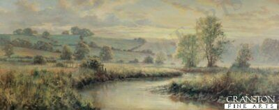 English Landscape Art Print Golden Stream by David Dipnall.. sold out rare