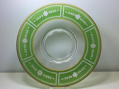 Westmoreland Glass etched cheese and cracker plate