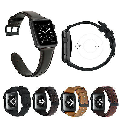 Genuine Leather Retro iWatch Band Strap For Apple Watch Series 4 3 2 1 38/42mm